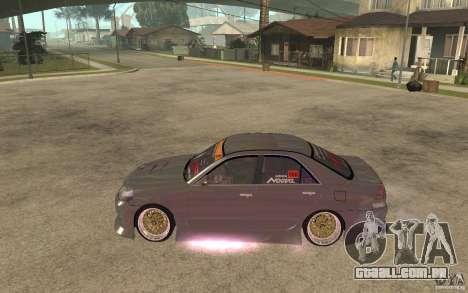 Toyota JZX110 Chaser V.I.P. Drifter para GTA San Andreas esquerda vista