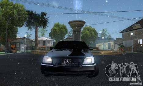 Mercedes-Benz 600SEC para GTA San Andreas vista traseira