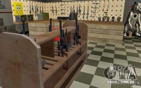 Loja de arma S. T. A. L. k. e. R para GTA San Andreas oitavo tela