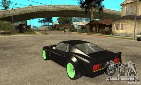 Ford Mustang RTR-X 1969 para GTA San Andreas vista traseira
