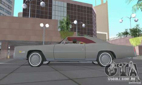 Cadillac Eldorado Convertible 1976 para GTA San Andreas vista traseira
