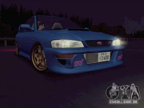 Subaru Impreza WRX GC8 InitialD para GTA San Andreas esquerda vista