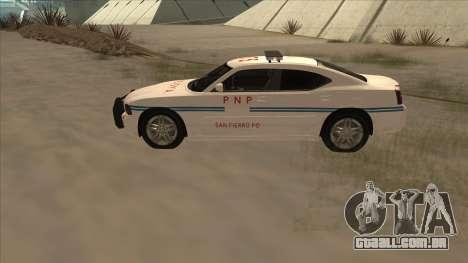 Dodge Charger PNP SAN FIERRO para GTA San Andreas esquerda vista