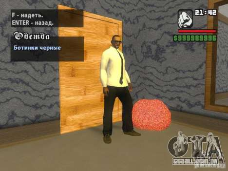 Camisa com gravata para GTA San Andreas terceira tela