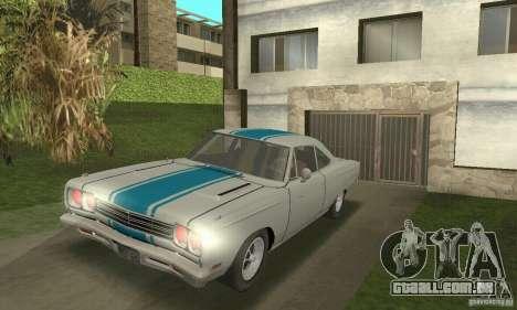 Plymouth Roadrunner 383 para GTA San Andreas vista traseira
