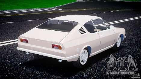 Audi 100 Coupe S para GTA 4 traseira esquerda vista