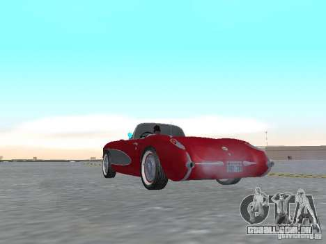 Chevrolet Corvette C1 para GTA San Andreas vista direita