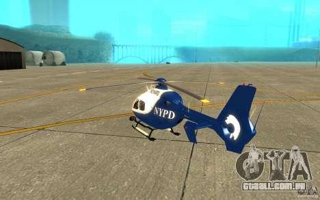 NYPD Eurocopter por SgtMartin_Riggs para GTA San Andreas vista direita