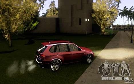BMW X5M  2011 para GTA San Andreas vista superior