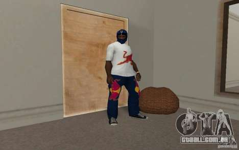 Red Bull Clothes v2.0 para GTA San Andreas quinto tela