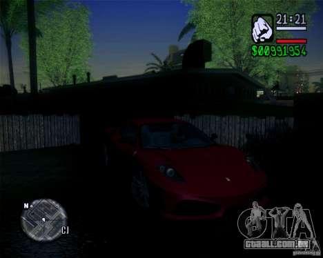 Novos gráficos do jogo 2011 para GTA San Andreas por diante tela