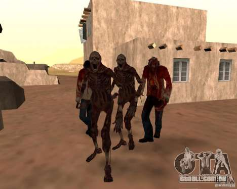 Zombie Half life 2 para GTA San Andreas oitavo tela