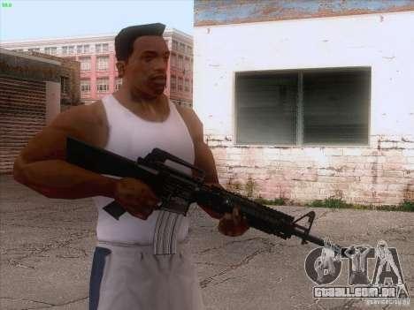 M16A4 para GTA San Andreas terceira tela
