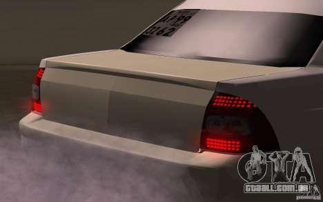 VAZ Lada Priora para GTA San Andreas vista traseira