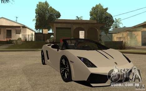 Lamborghini Gallardo LP570-4 para GTA San Andreas vista traseira