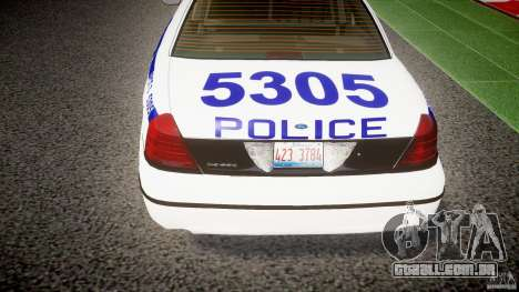 Ford Crown Victoria NYPD [ELS] para GTA 4 vista inferior