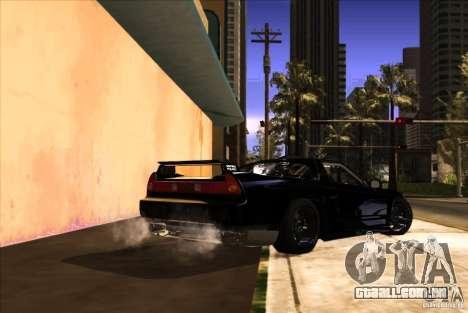 Acura NSX Tuned para vista lateral GTA San Andreas