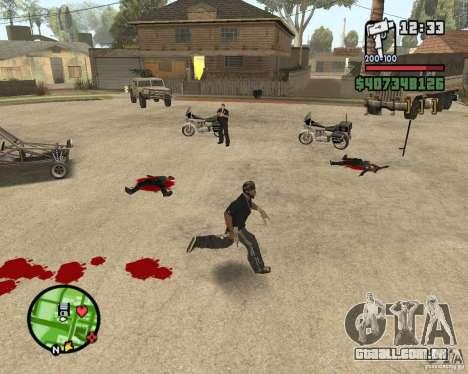 Sangue na tela v2 para GTA San Andreas segunda tela