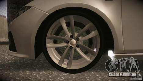 Seat Leon Cupra para GTA San Andreas vista superior