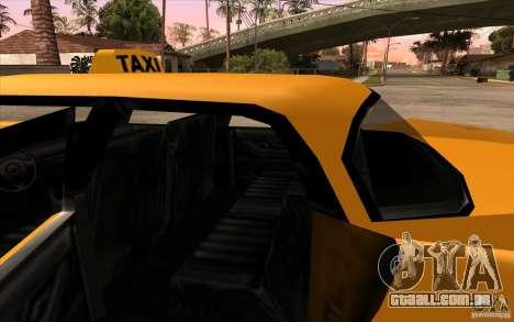 Glendale Cabbie para GTA San Andreas vista direita