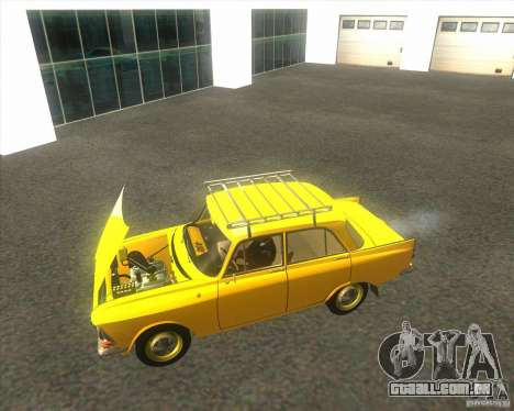 Moskvich 408 para GTA San Andreas vista direita