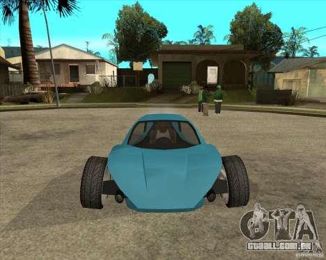 AP3 cobra para GTA San Andreas vista traseira