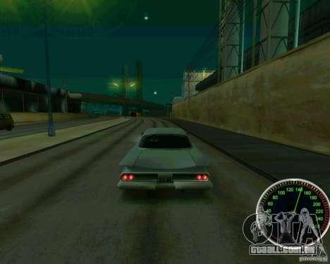 Velocímetro para GTA San Andreas por diante tela