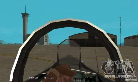 Su-37 Terminator para GTA San Andreas vista traseira