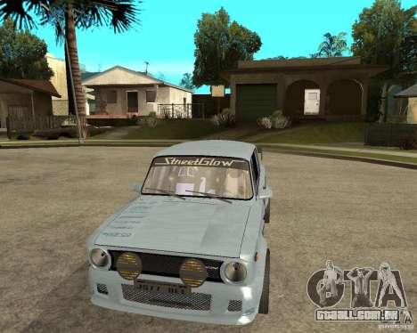 2101 VAZ carro tuning para GTA San Andreas vista traseira
