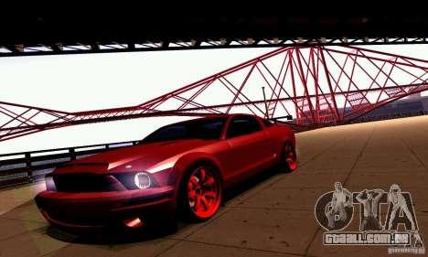 Shelby GT500 KR para GTA San Andreas vista traseira