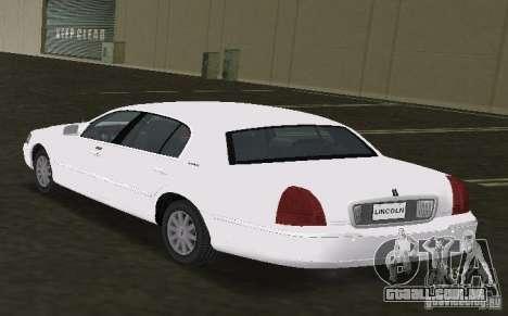 Lincoln Town Car para GTA Vice City deixou vista