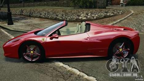 Ferrari 458 Spider 2013 v1.01 para GTA 4 esquerda vista