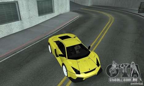Lamborghini Murcielago Tuned para GTA San Andreas vista inferior