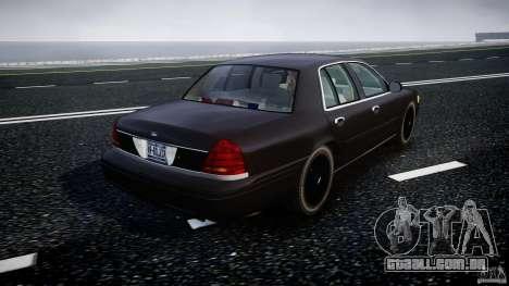 Ford Crown Victoria 2003 v2 FBI para GTA 4 vista lateral