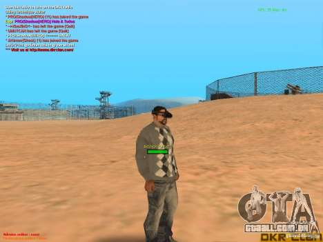 Thermal Goggles para GTA San Andreas por diante tela