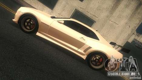 Chevrolet Camaro SS Dr Pepper Edition para GTA San Andreas traseira esquerda vista