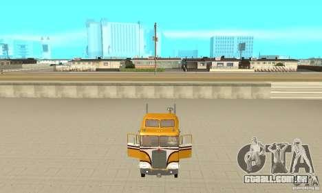 Kenworth K100C Aerodyne para GTA San Andreas vista traseira