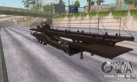 O caminhão de reboque para GTA San Andreas esquerda vista