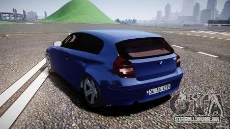 BMW 118i para GTA 4 traseira esquerda vista