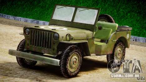 Jeep Willys [Final] para GTA 4 vista interior