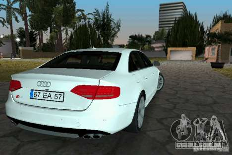Audi S4 2010 para GTA Vice City deixou vista