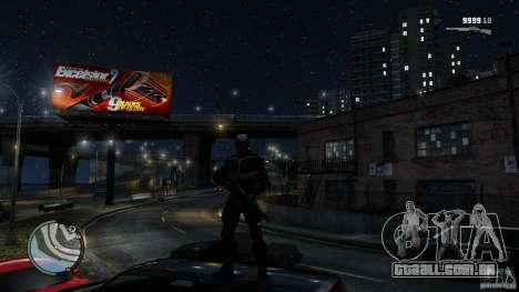 Crysis 2 NanoSuit v4.0 para GTA 4 por diante tela