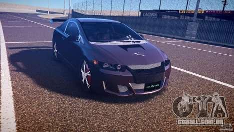Honda Civic Si Tuning para GTA 4 vista de volta