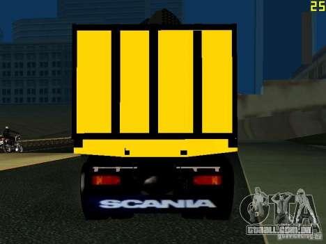 Scania 113H para GTA San Andreas traseira esquerda vista