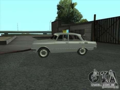 SL Moskvich 2140 para GTA San Andreas esquerda vista
