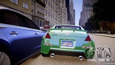 Nissan 350Z Underground 2 Style para GTA 4 vista direita