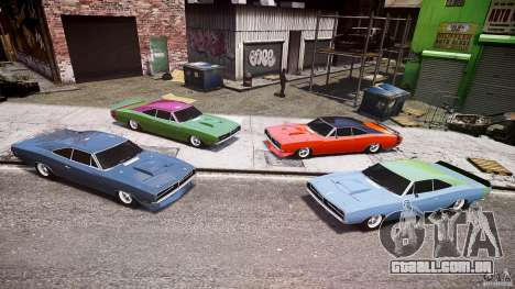 Dodge Charger RT 1969 tun v 1.1 baixo passeio para GTA 4 vista inferior