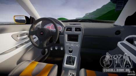 Subaru Impreza STI para GTA 4 vista superior