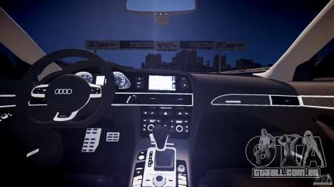 Audi RS6 2009 para GTA 4 vista interior