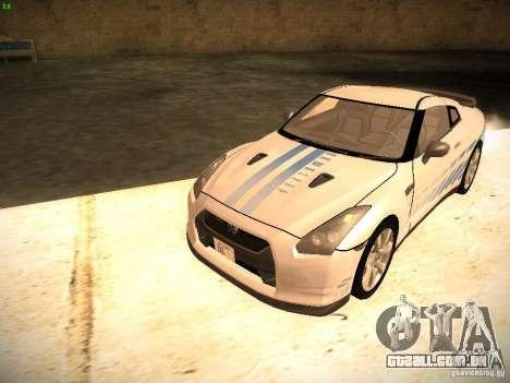 Nissan GT-R para GTA San Andreas vista inferior